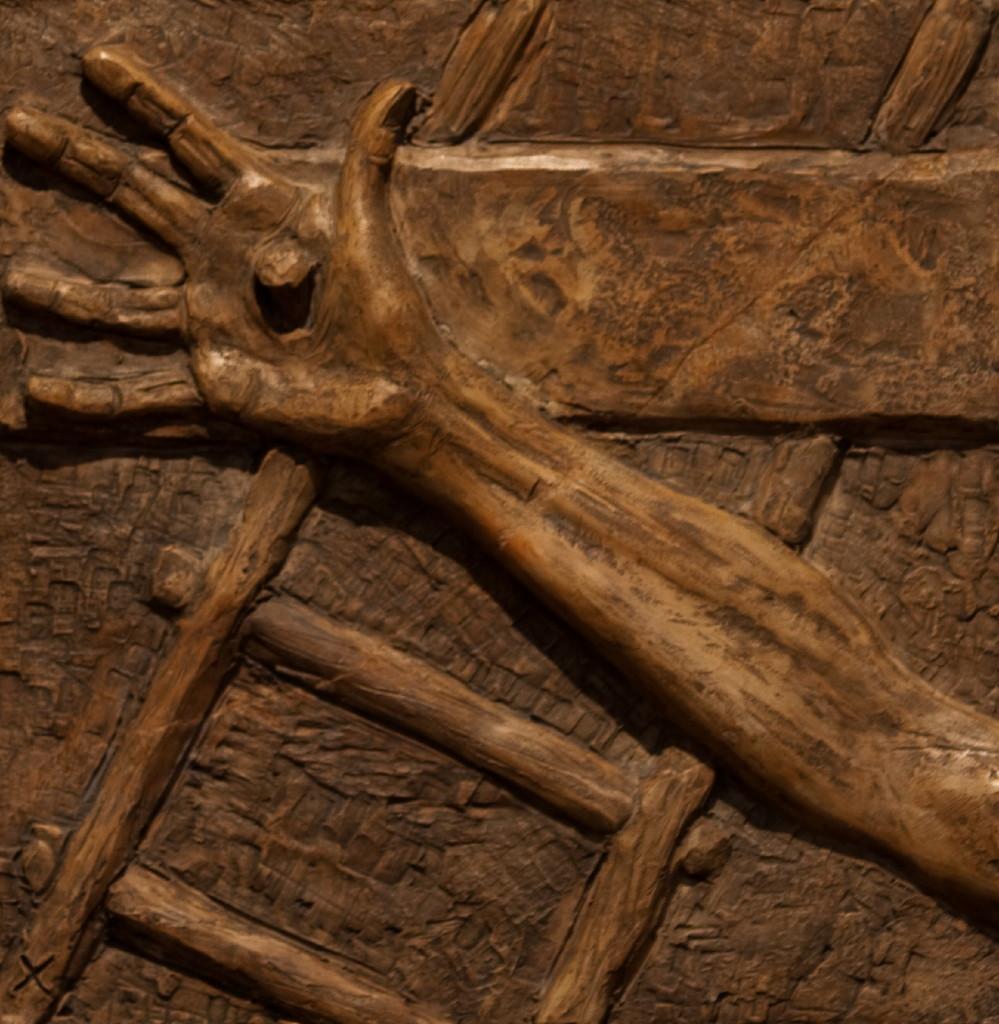 Jesus blir naglet til korset